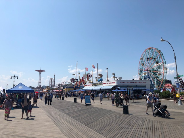 The Iconic Coney Island Boardwalk - The amusement parks and boardwalk of Coney Island are a must do. While there, drive 10 minutes to L&B Spumoni Gardens for the best square pies around.