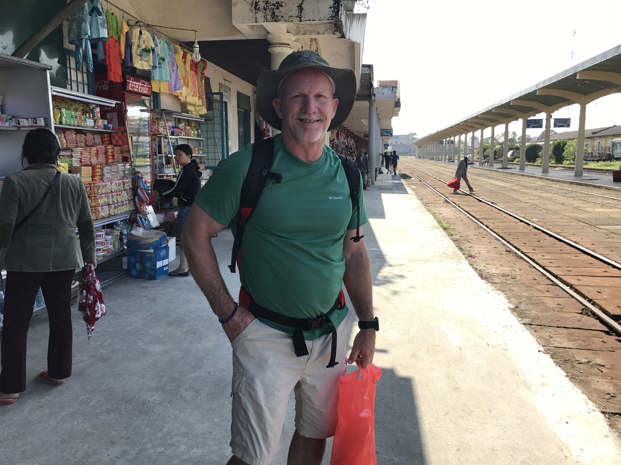 Barry Waiting on The Train in Vietnam