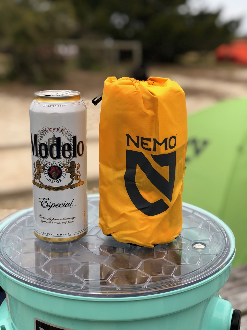 NEMO Tensor Regular Insulated Ultralight Sleeping Pad (2019) in Storage Bag By Modelo Tall Boy Beer