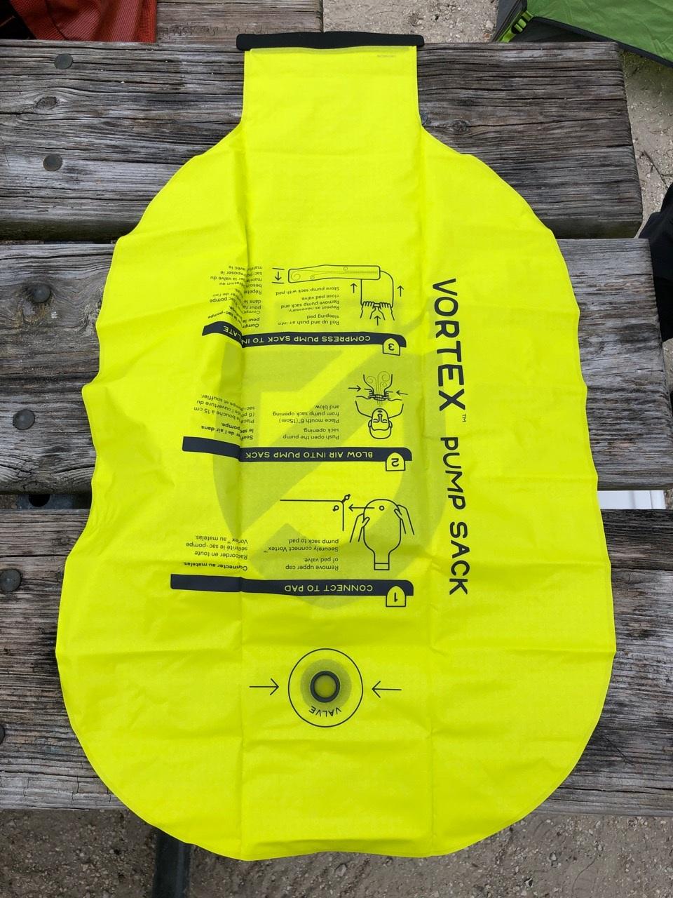 NEMO Tensor Regular Insulated Ultralight Sleeping Pad (2019) Vortex Inflation Sack (Back)