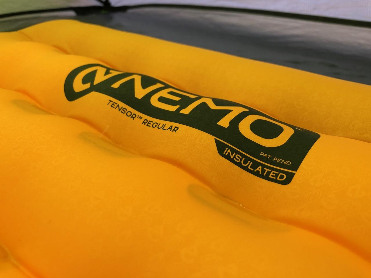 NEMO Tensor Regular Insulated Ultralight Sleeping Pad (2019) Close Up of Logo