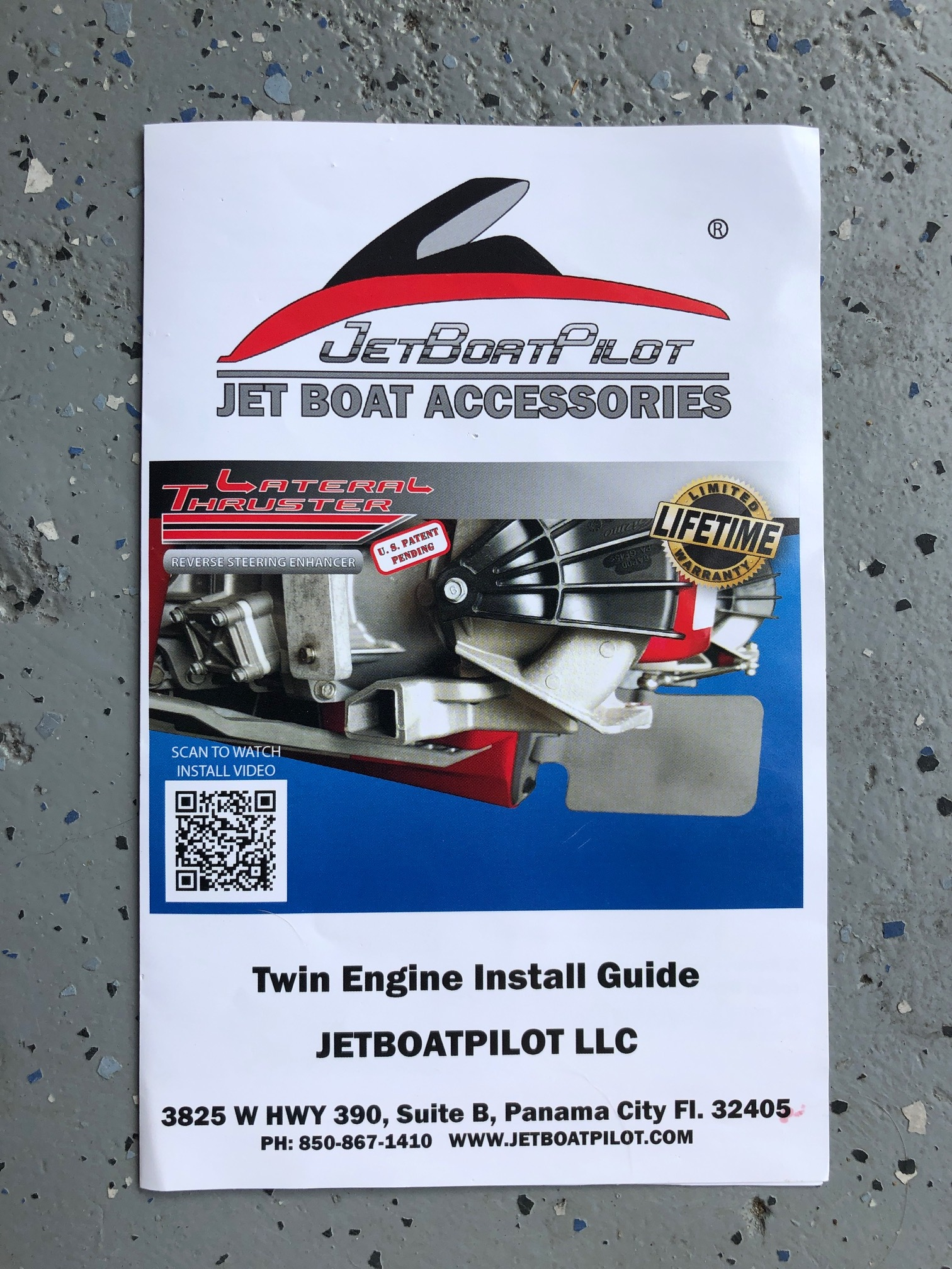 JetBoatPilot Lateral Thruster Twin Engine Installation Guide (Front)
