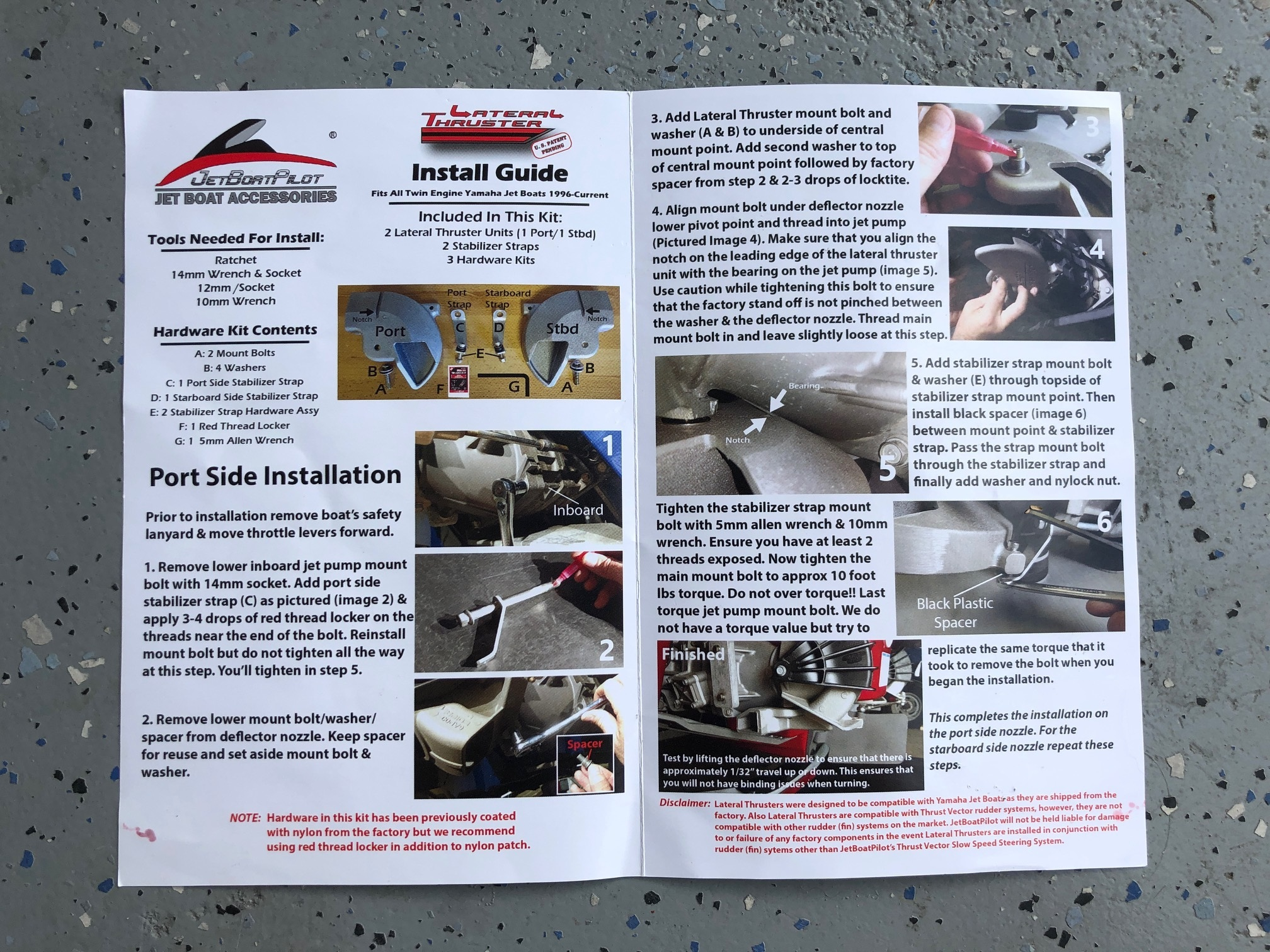 JetBoatPilot Lateral Thruster Twin Engine Installation Guide (Open)