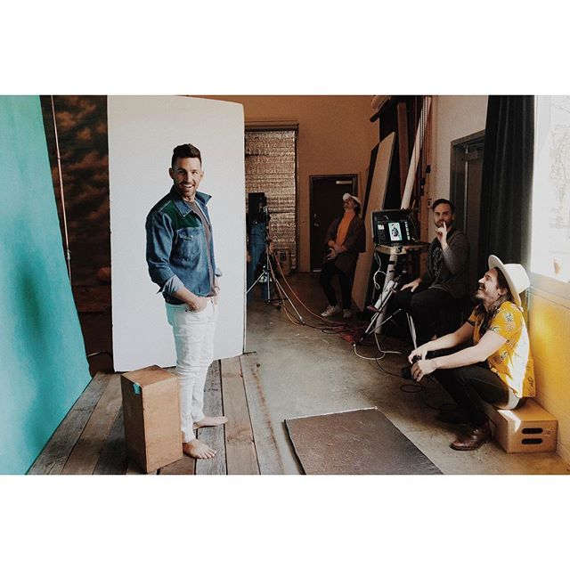 BTS with Jake Owen. In studio for his recently released album art and promo images.