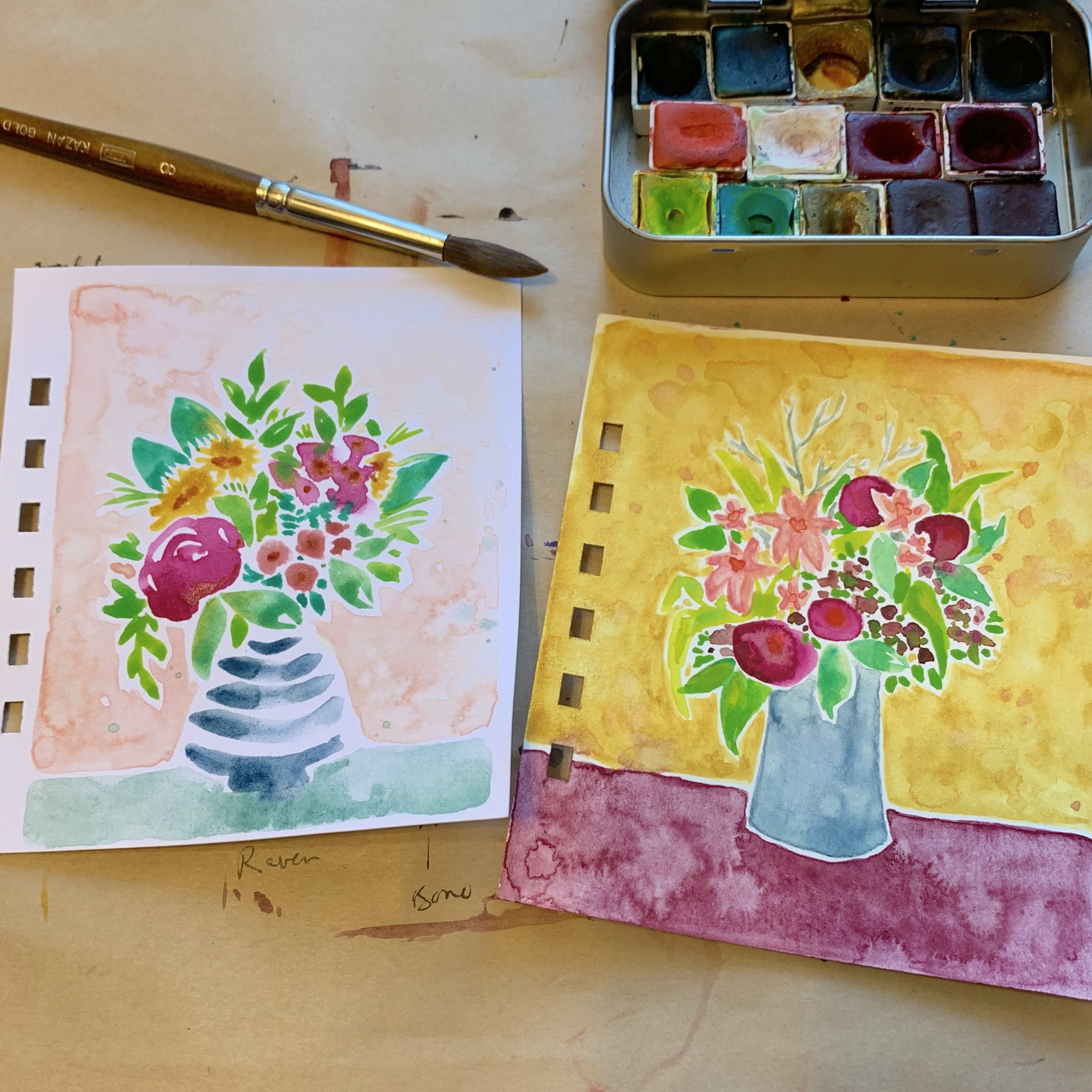 We might not have time for the floral pages, but hopefully they'll inspire you to experiment on your own at home!