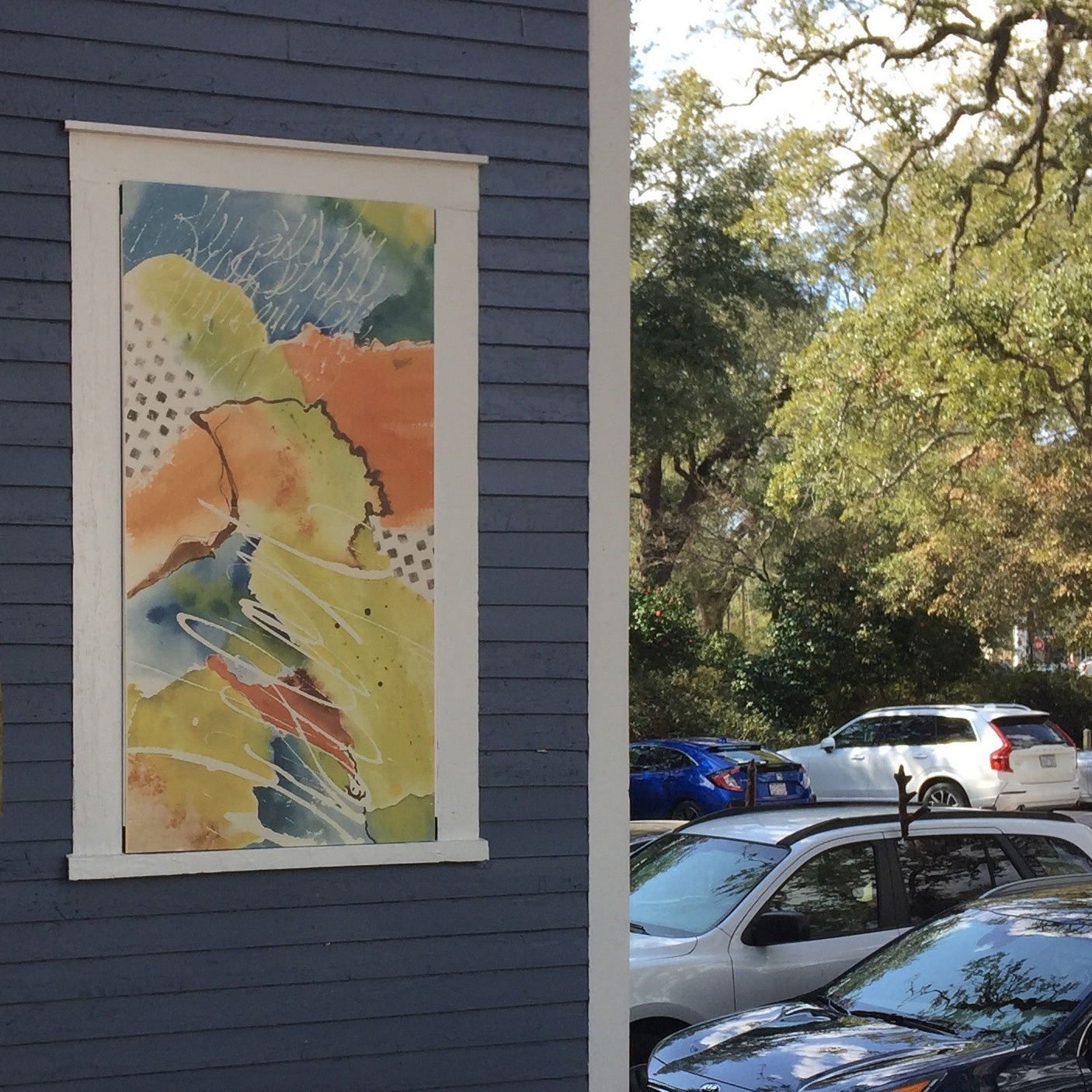 Mural from   Wise Path   a watercolor by Adrienne Watts.