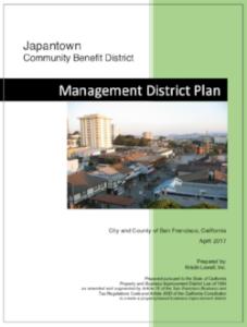 JCBD MANAGEMENT DISTRICT PLAN 4/2017