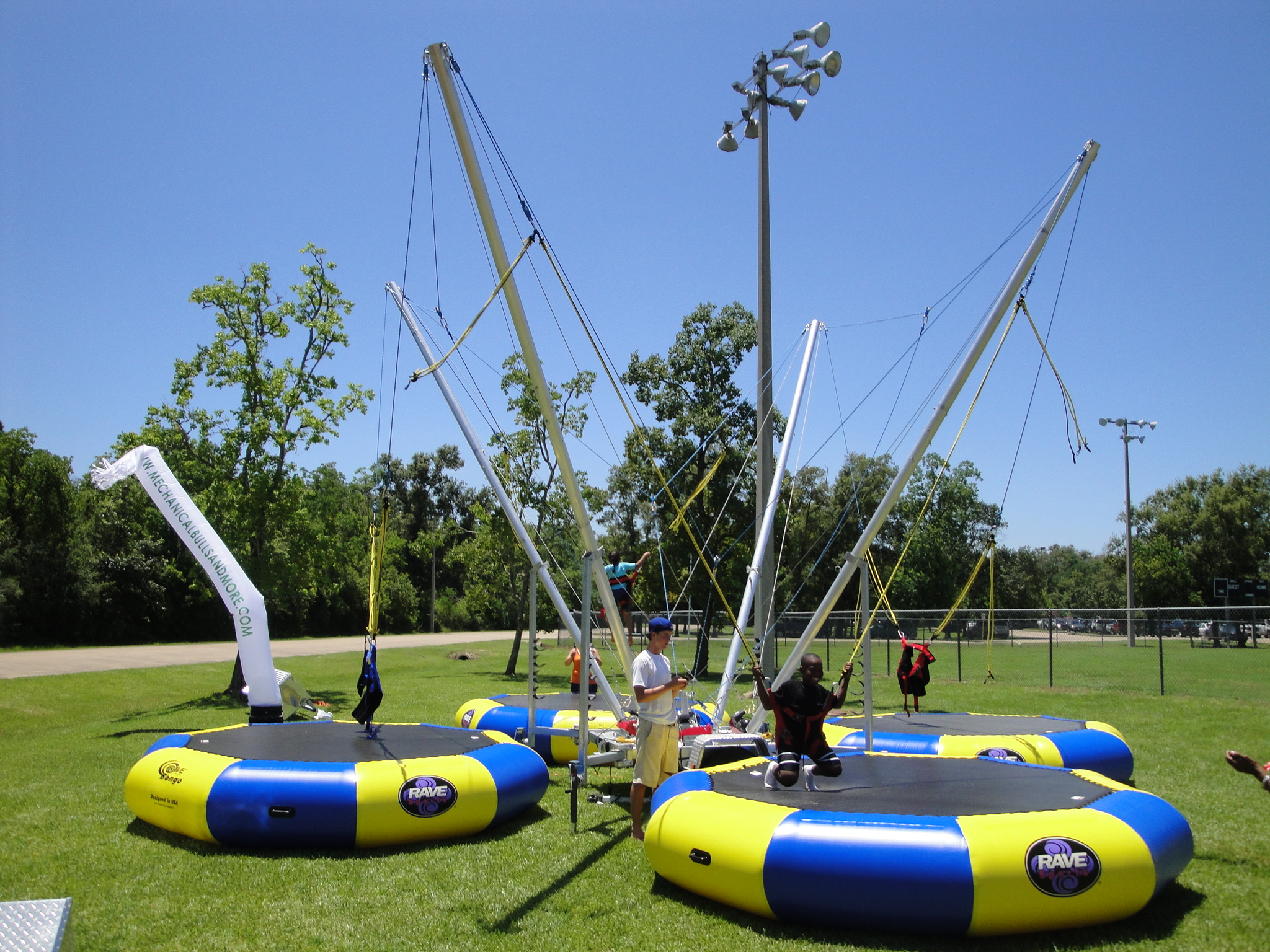 "Euro Bungee - Harnessed Trampolines for a ""Flipping"" Good Time!"