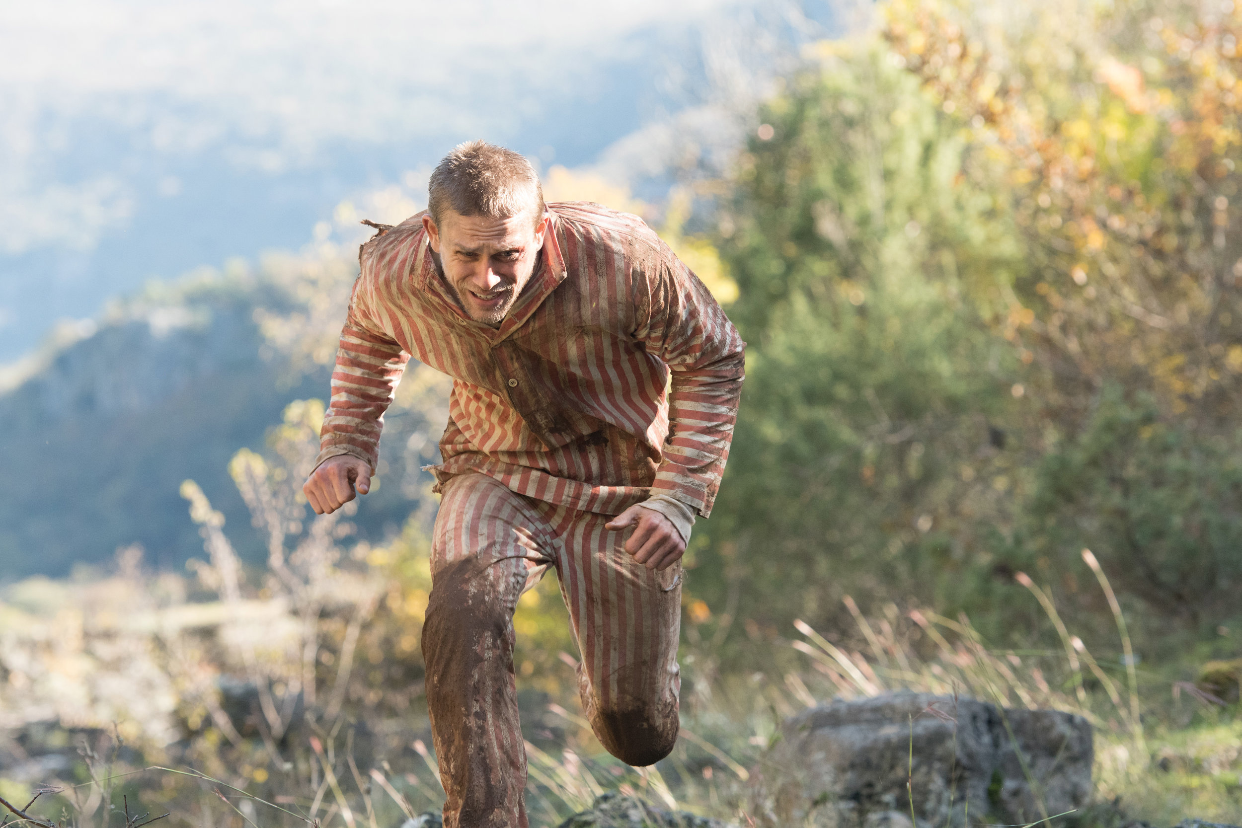 """Charlie Hunnam plays Henri Charrière, a Paris thief whose harrowing survival story in a French penal colony is told in """"Papillon."""" (Photo by Jose Haro, courtesy Bleecker Street Films)"""