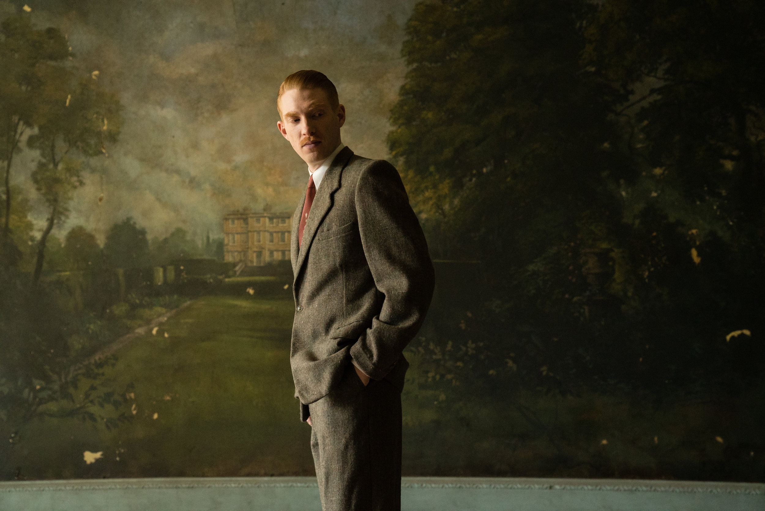 """Domhnall Gleeson plays Dr. Faraday, who makes house calls to a mansion that long has fascinated him, in the suspense thriller """"The Little Stranger."""" (Photo by Nicole Dove, courtesy Focus Features)"""