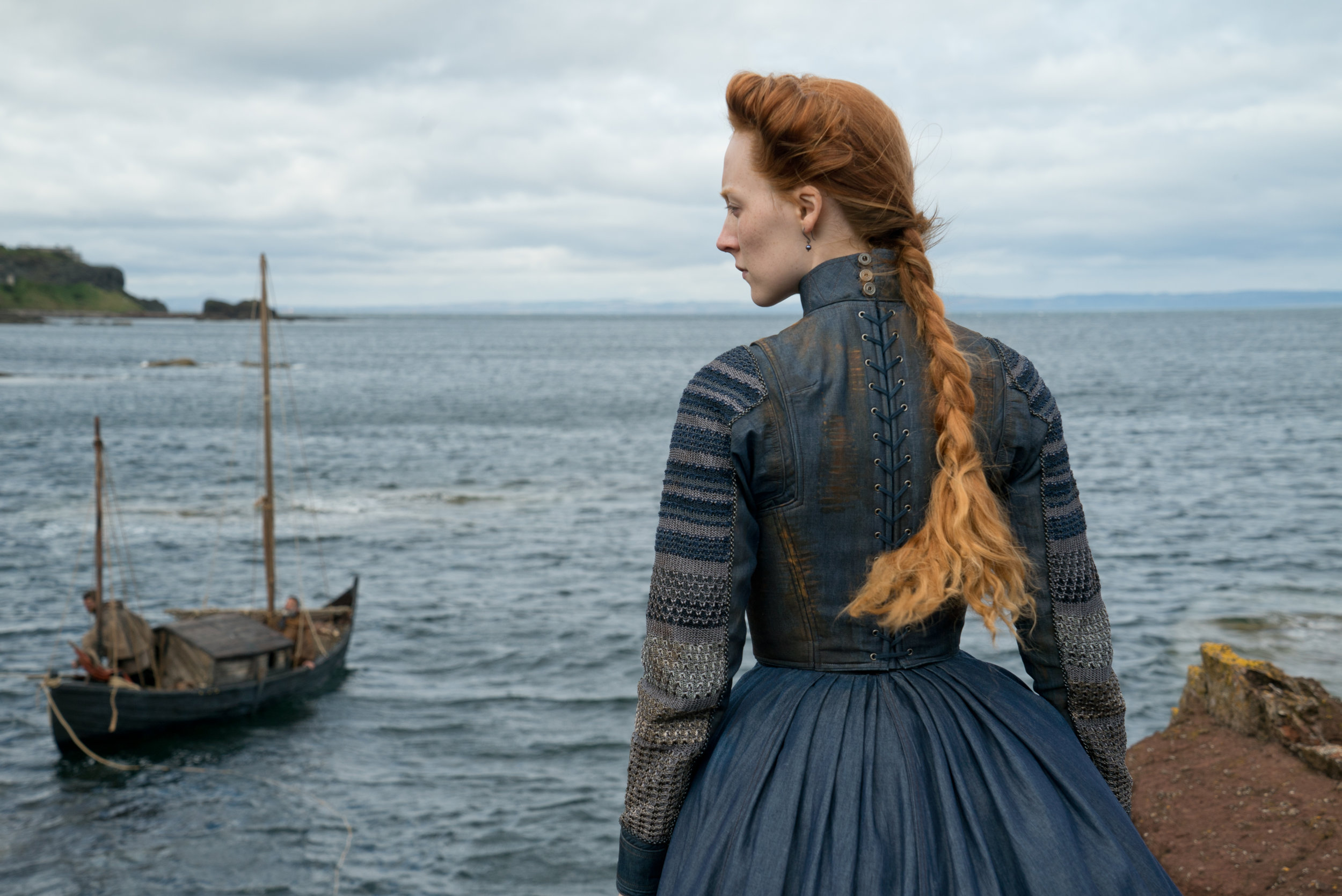 """Saoirse Ronan plays Mary Stuart, who lays claim to two crowns, in the drama """"Mary, Queen of Scots). (Photo by Liam Daniel, courtesy Focus Features)"""
