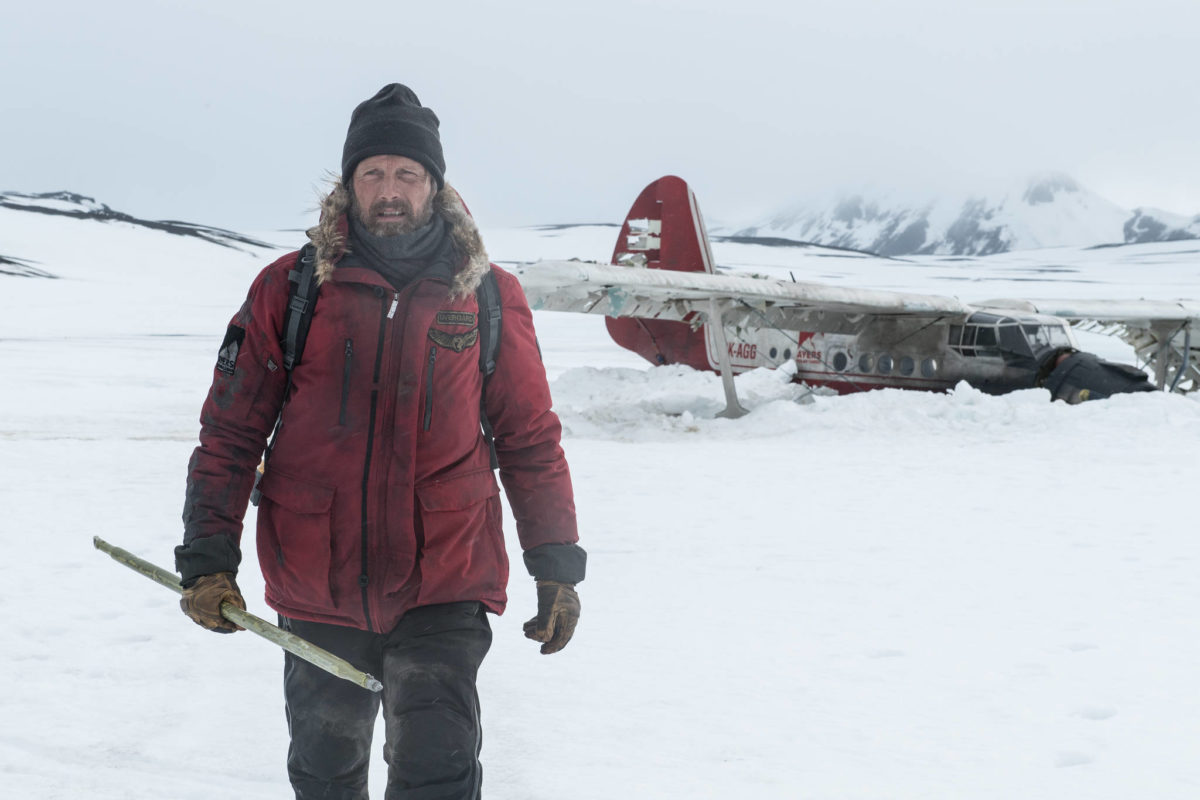 "Mads Mikkelsen stars in ""Arctic,"" as a survivor of a plane crash trying to stay alive in a frozen wasteland. (Photo by Helen Sloan, courtesy of Bleecker Street)"