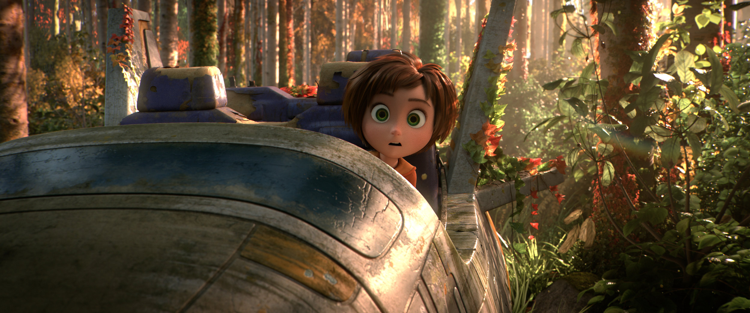 "June, voiced by Brianna Denski, finds a remnant of an amusement park of her younger imagination, in the animated adventure ""Wonder Park."" (Image courtesy Nickelodeon Movies / Paramount Pictures)"