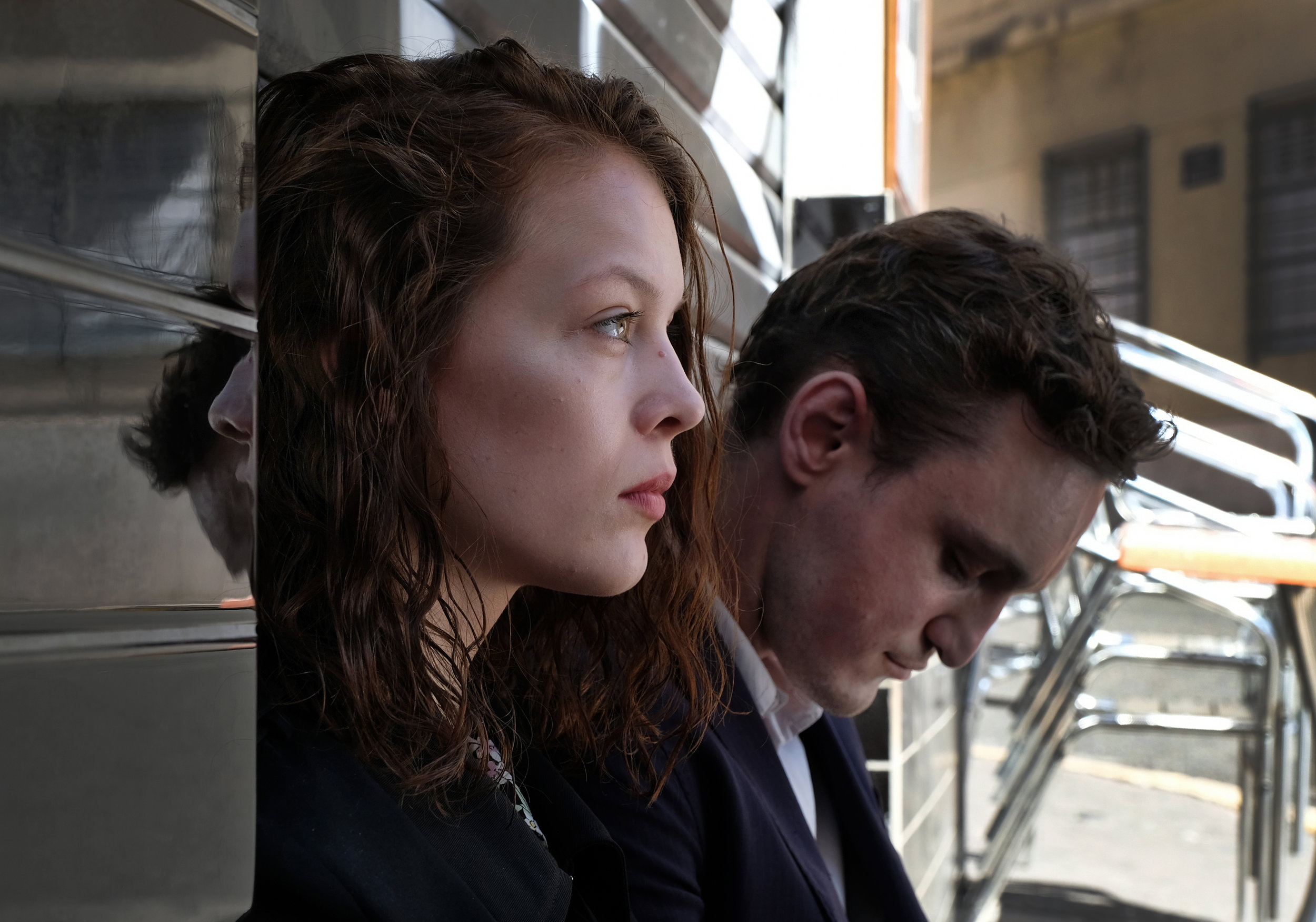 """Marie (Paula Beer, left) and Georg (Franz Rogowsky) are both seeking a way out of German-occupied France in writer-director Christian Petzold's romantic drama """"Transit."""" (Photo courtesy Music Box Films)"""
