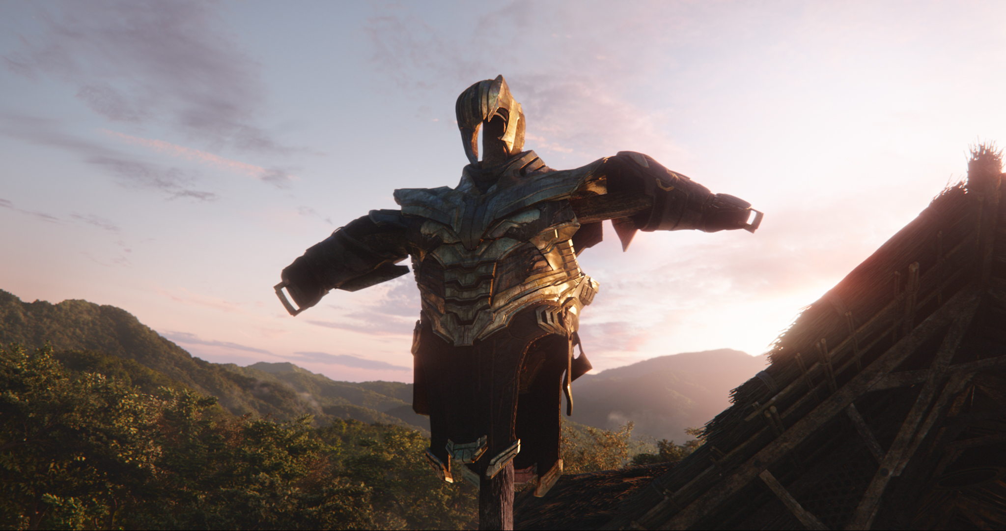 "Thanos' armor, seen in a moment from ""Avengers: Endgame,"" the 22nd movie in the Marvel Cinematic Universe franchise. (Photo courtesy of Disney / Marvel Studios.)"