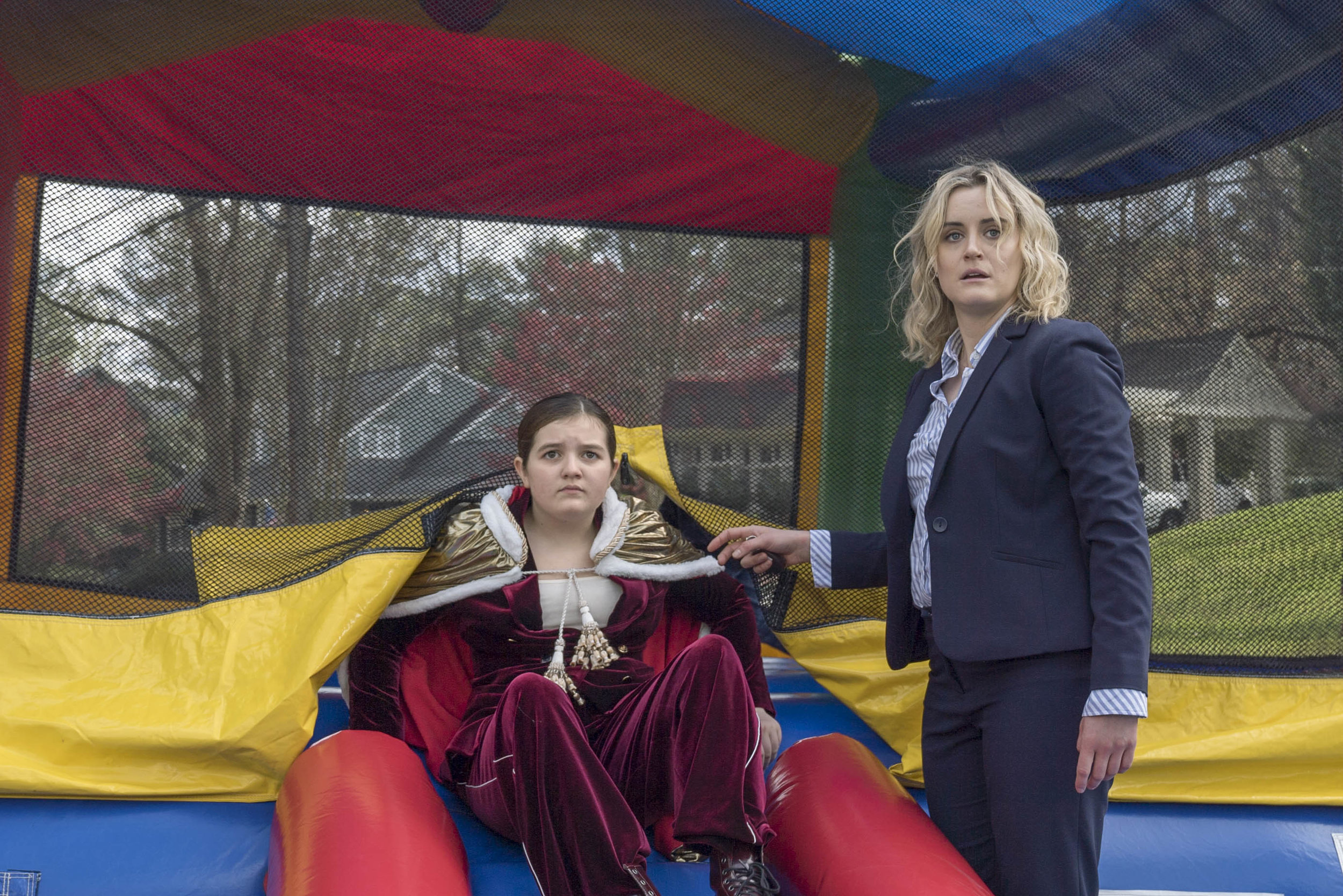 "Troubled executive Kate (Taylor Schilling, right) helps her awkward 11-year-old niece, Maddie (Bryn Vale), in the comedy ""Family."" (Photo courtesy The Film Arcade.)"