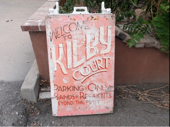 A weathered sign leads music lovers to Salt Lake City's Kilby Court, an all-ages venue that marks its 20th anniversary on March 10 and 11. (Photo courtesy The Salt Lake Tribune.)