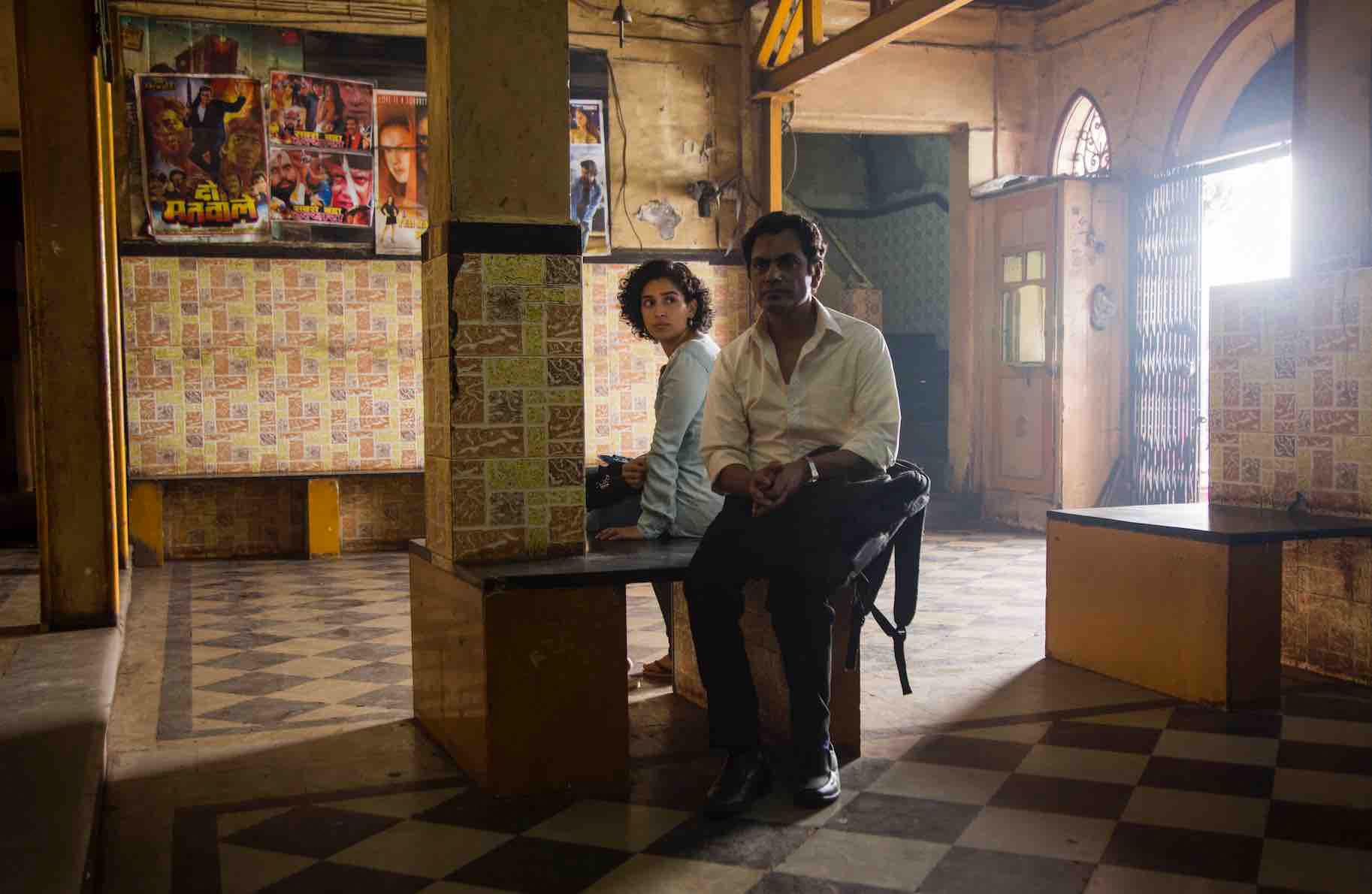 "Tentative romance blooms between Miloni (Sanya Malhotra, left), a shy student, and Rafi (Nawazuddin Siddiqui), a struggling street photographer, in writer-director Ritesh Batra's ""Photograph."" (Photo courtesy Amazon Studios.)"