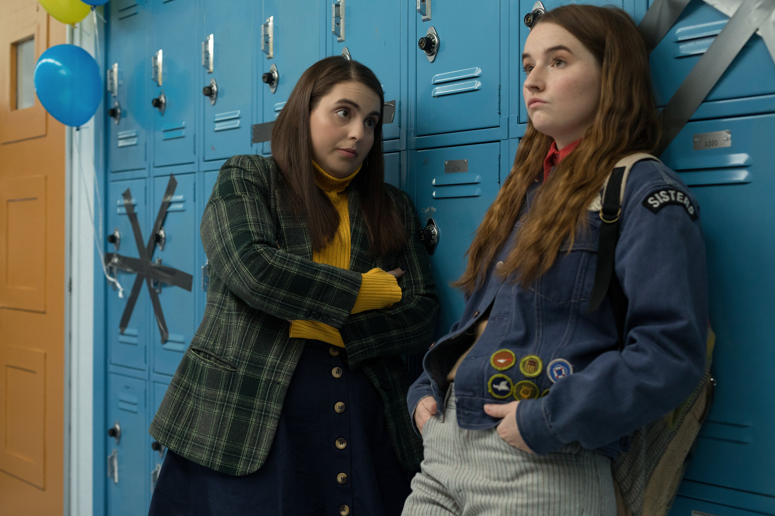 "Best friends Molly (Beanie Feldstein, left) and Amy (Kaitlyn Dever) talk about finding a party on the night before graduation, in the comedy ""Booksmart."" (Photo by Francois Duhamel, courtesy Annapurna Pictures.)"
