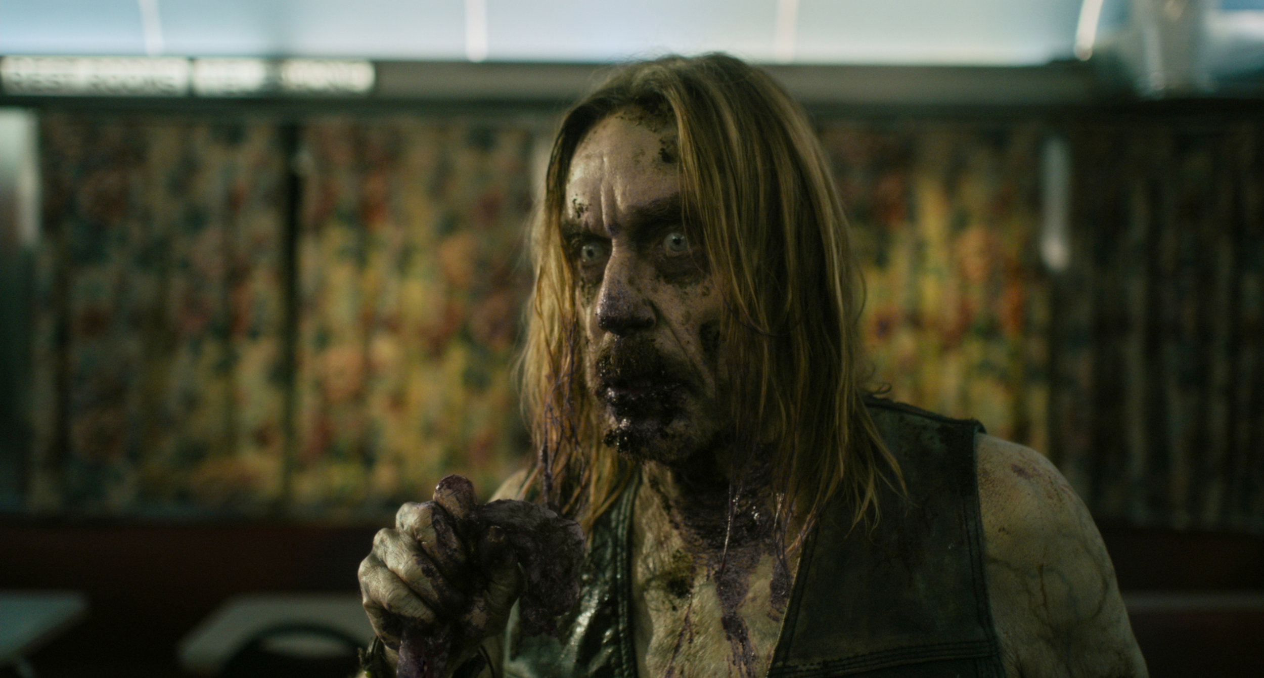 "Rock star Iggy Pop plays a zombie with a yen for human flesh and coffee, in Jim Jarmusch's horror comedy ""The Dead Don't Die."" (Photo by Frederick Elmes, courtesy of Focus Features.)"