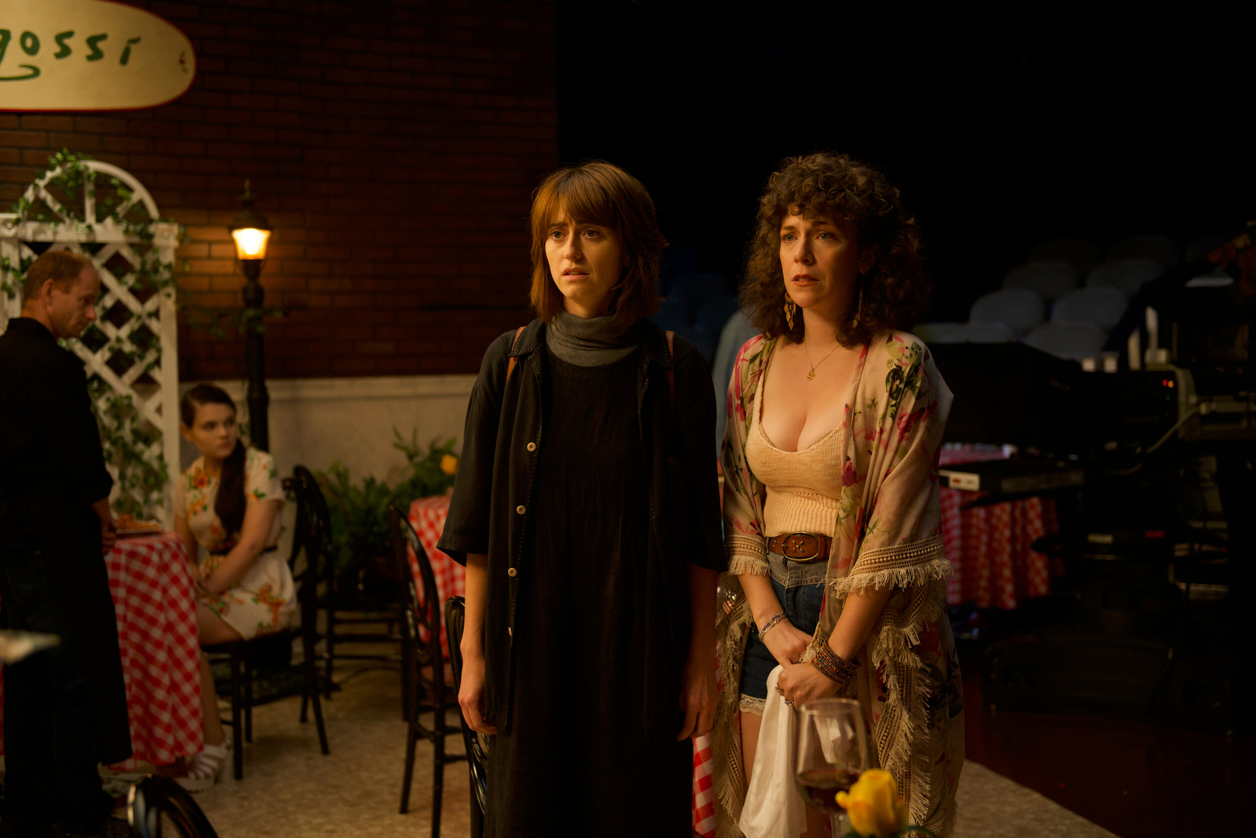 """Sisters Rachel (Hannah Pearl Utt, left) and Jackie (Jen Tullock) discover their mother isn't dead, as they were led to believe, in the comedy """"Before You Know It,"""" directed by Utt and written by Utt and Tullock. (Photo courtesy of 1091 Media.)"""