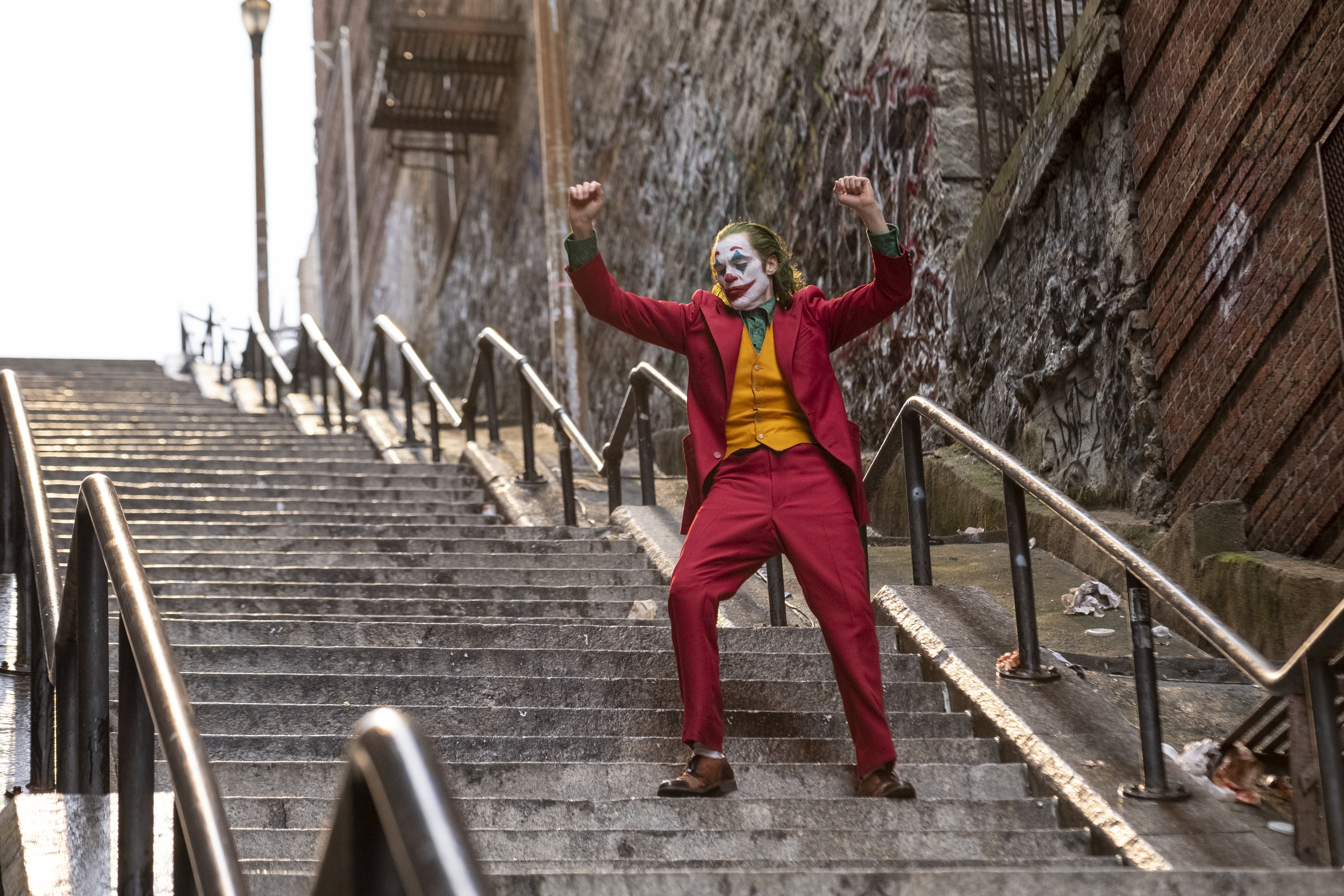 """Joaquin Phoenix plays Arthur Fleck, who transforms into Gotham City's iconic criminal, in """"Joker."""" (Photo by Niko Tavernise, courtesy of Warner Bros. Pictures.)"""