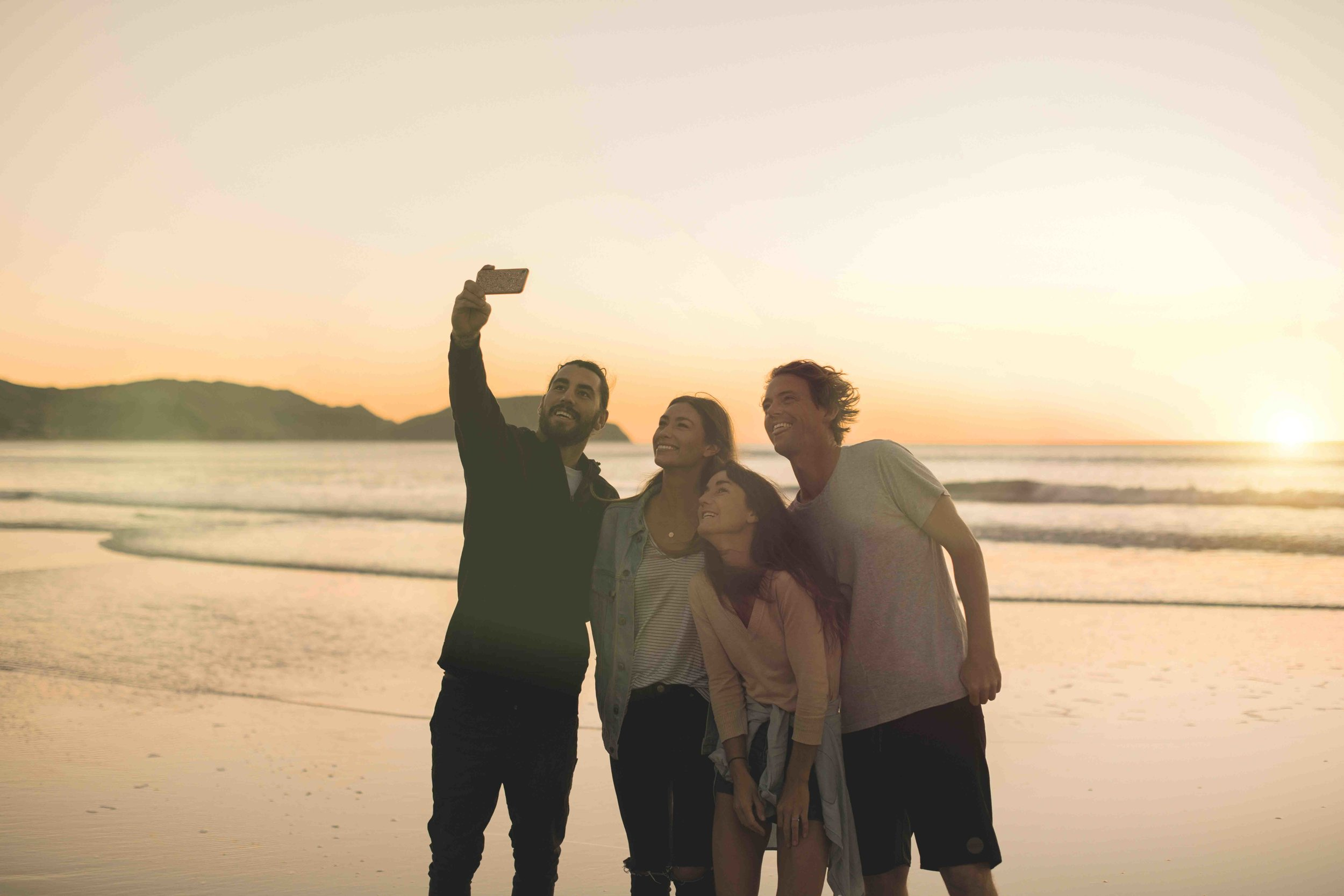 A sunrise photo with friends at Wainui beach is something for the bucketlist