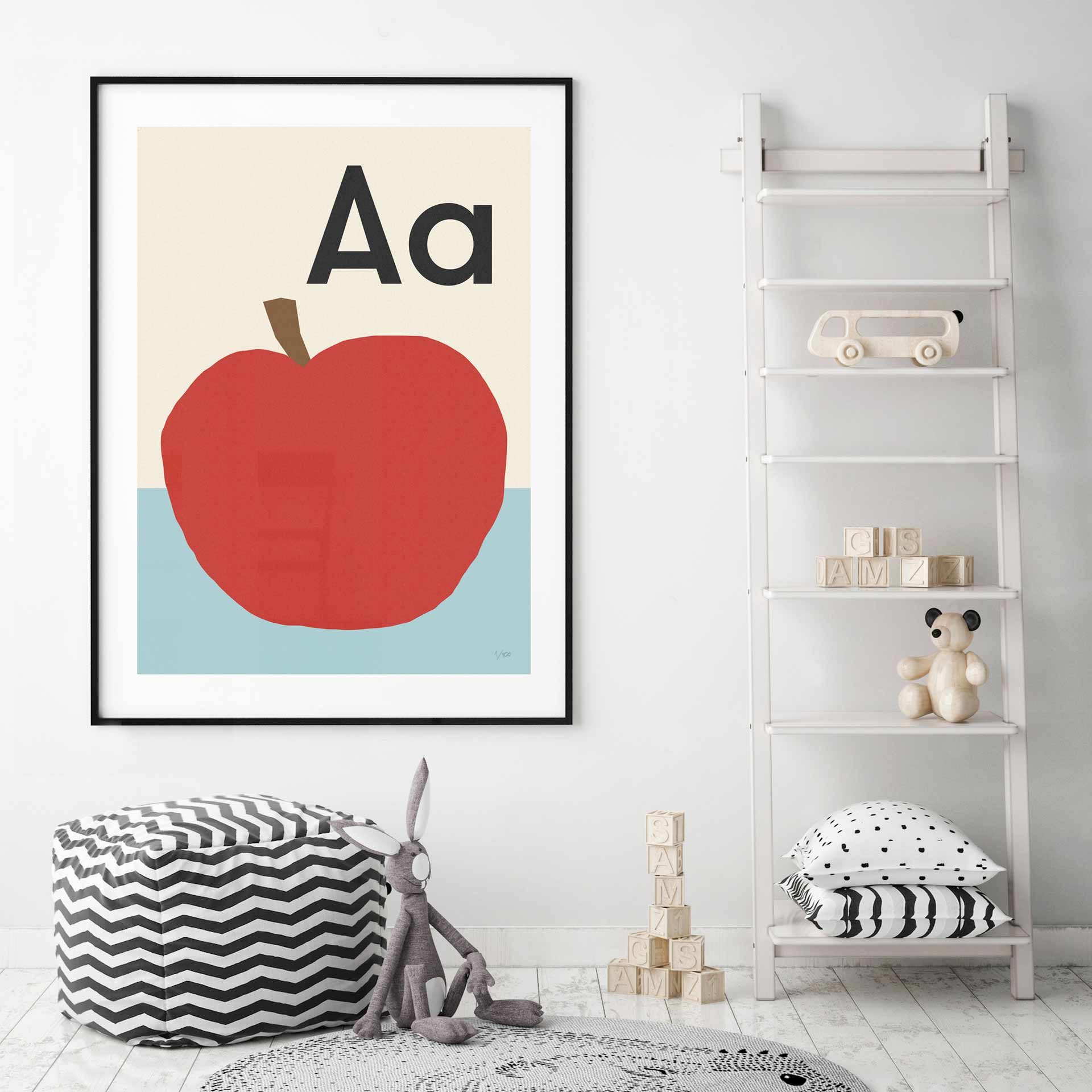 HeyWow-Alphabet-apple-kids-wall-print