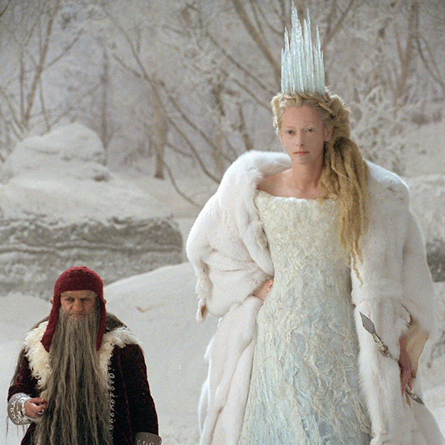 The White Witch from The Lion, the Witch and the Wardrobe. More of an enchantress than a wicked witch but she definitely has an icy heart.