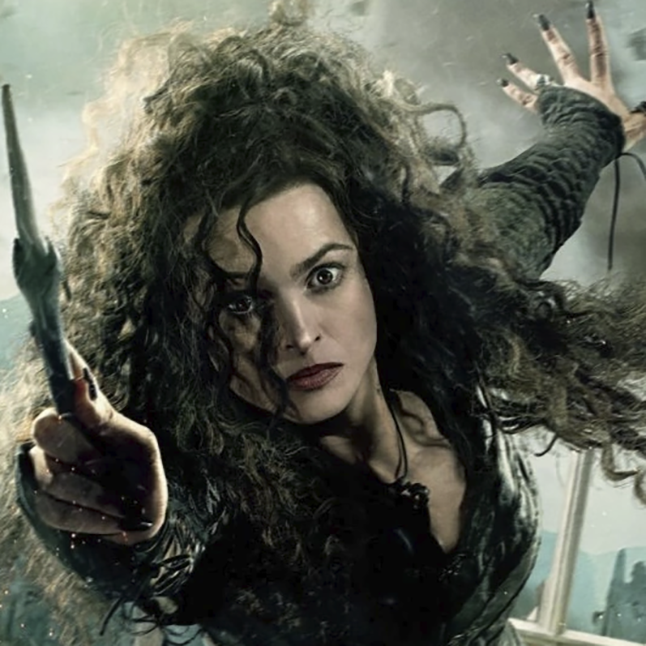 Bellatrix Lestrange from Harry Potter. Not only is she wicked but crazy too.