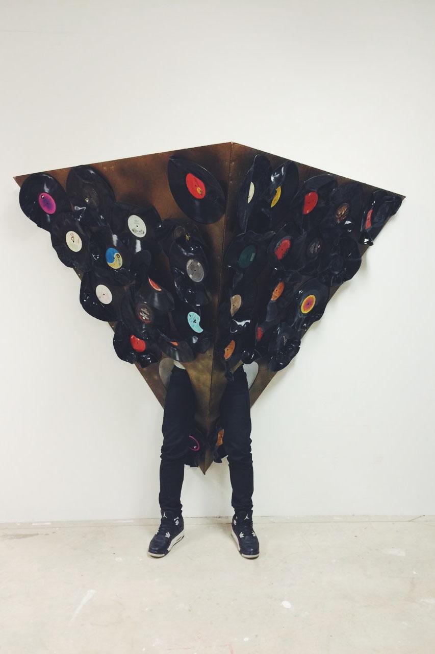 Vinyl. LED Lights. Mixed Media. 6ft x 3ft. 2015