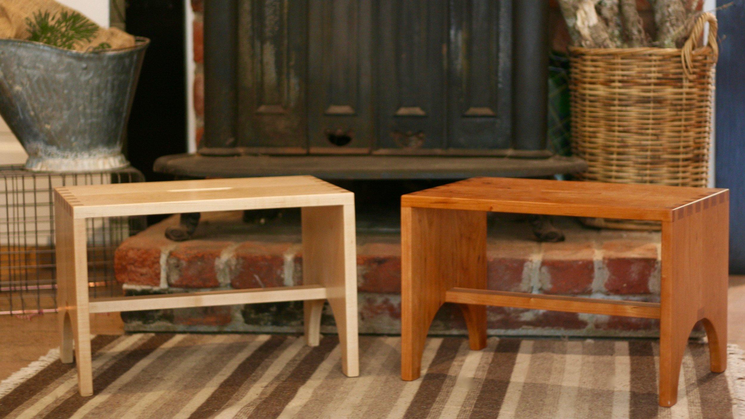 Step stools pair, cherry and maple.jpeg