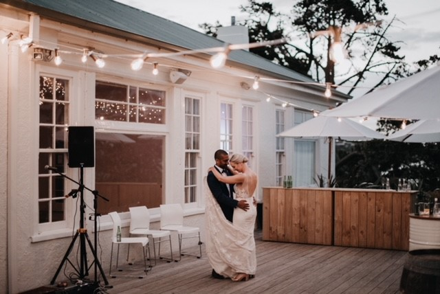 First dance under Festoon Lights at the Officers Mess Fort Takapuna.jpg