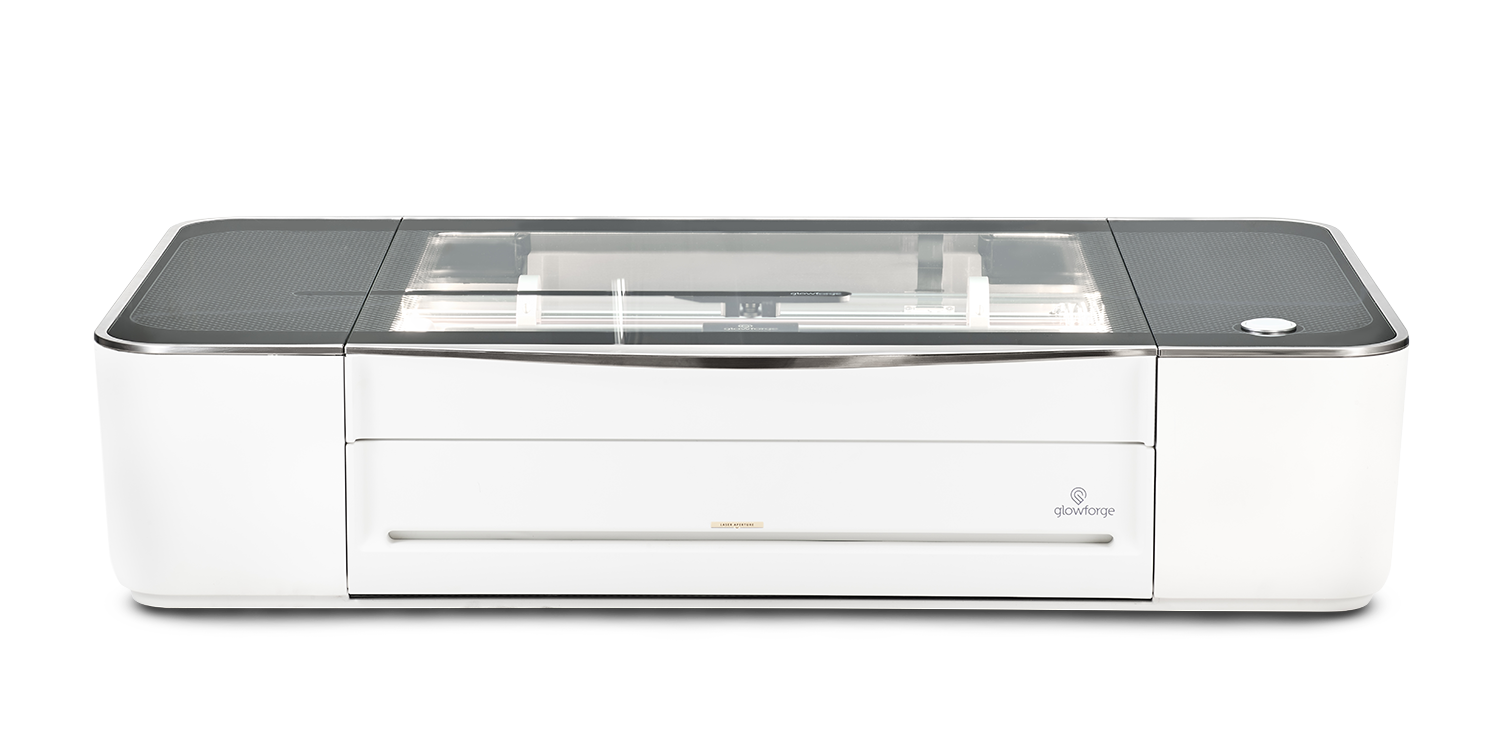 Pro - $5995 - The Pro model is the most powerful and capable Glowforge laser offered. The Glowforge Pro is the same size as the Plus and Basic but can print larger objects due to it's the Pro Passthrough slot. The Glowforge Pro also has upgraded cooling for all-day use. It also features upgraded components and increased laser power to print up to 20% faster than the Basic, and has double the warranty. If you are looking to get a Glowforge for a small business or heavy usage, this is the model to get.Class 4 laser product.