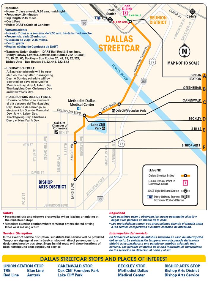 Dallas Streetcar Map