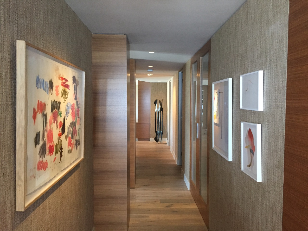 Gunther Forg Installation, Private Collection Hallway