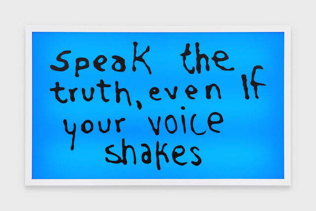 Sam Durant, Speak the Truth Even if Your Voice Shakes, 2015