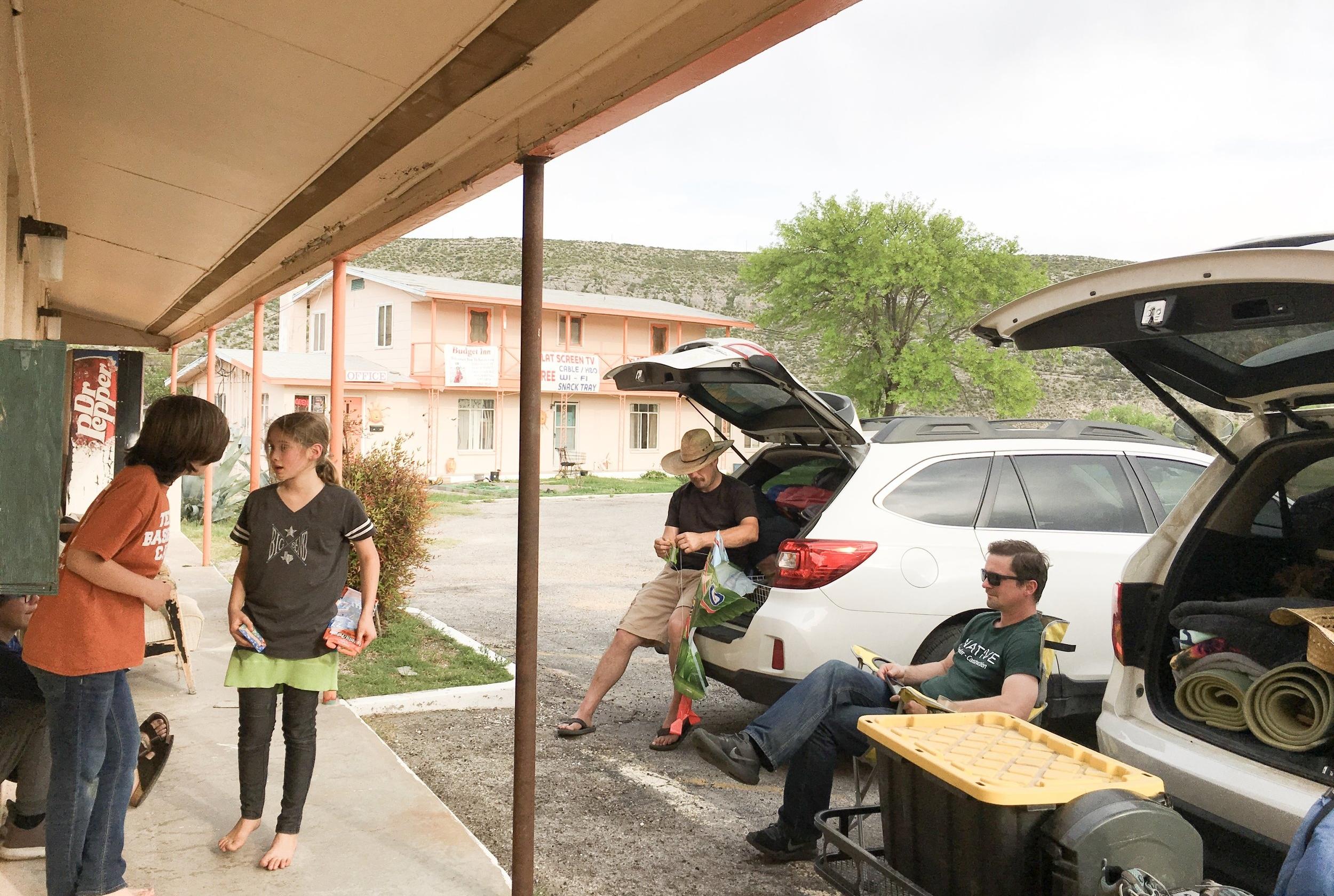 Porch sitting in Sanderson