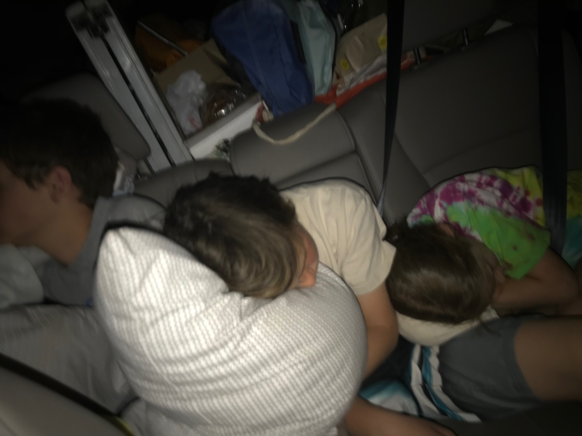 Kids Sleeping on the way BACK TO Sanderson