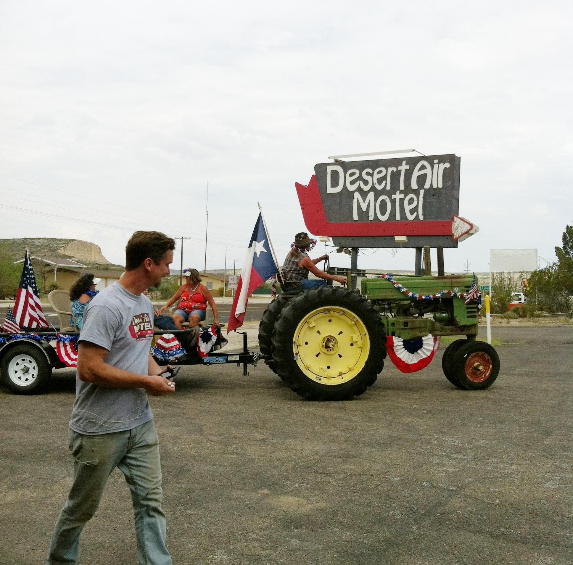 Neighbor's parade float