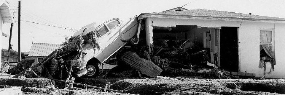 Picture of the aftermath of the flood of 1965
