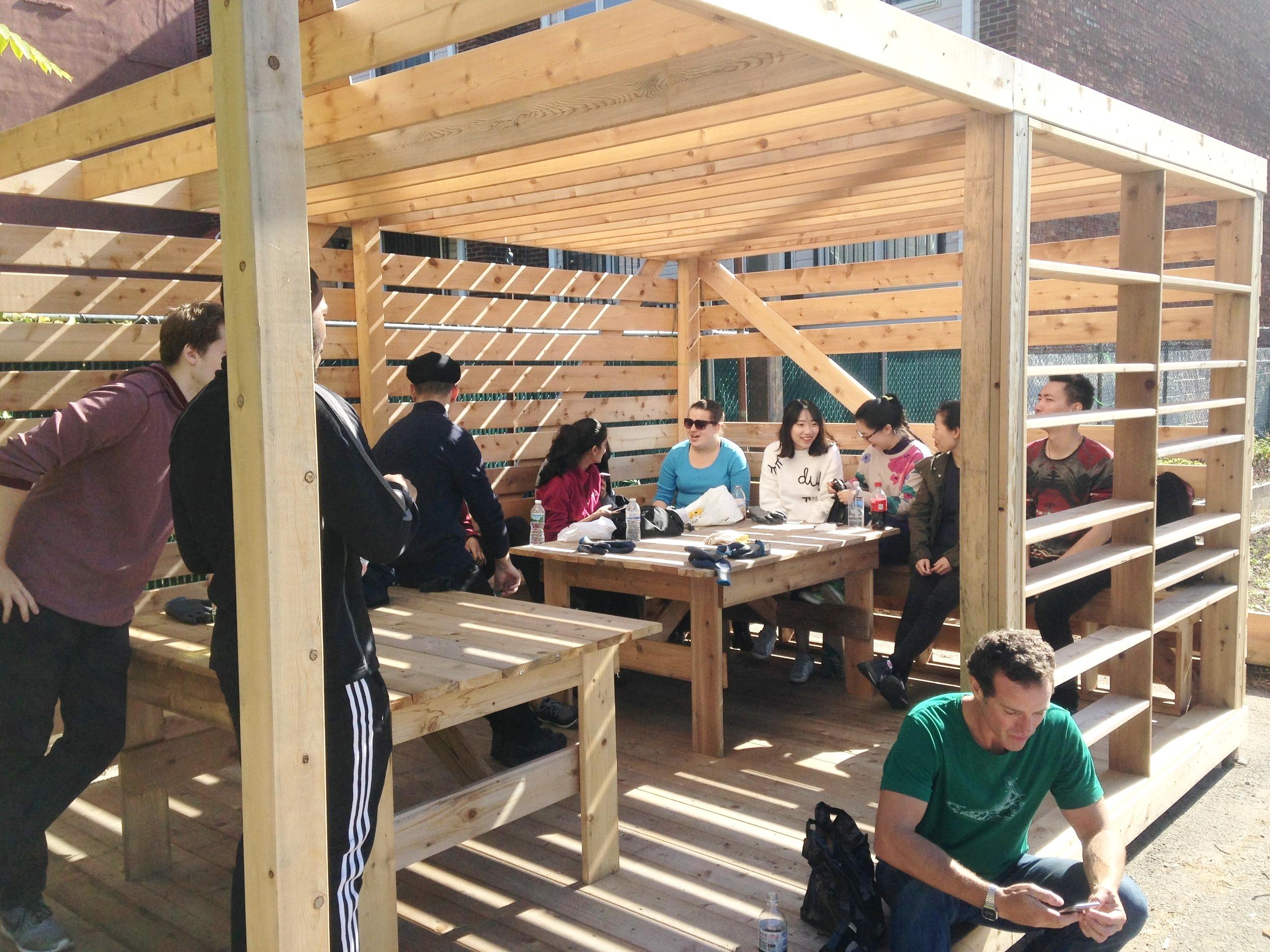 urban farm social space