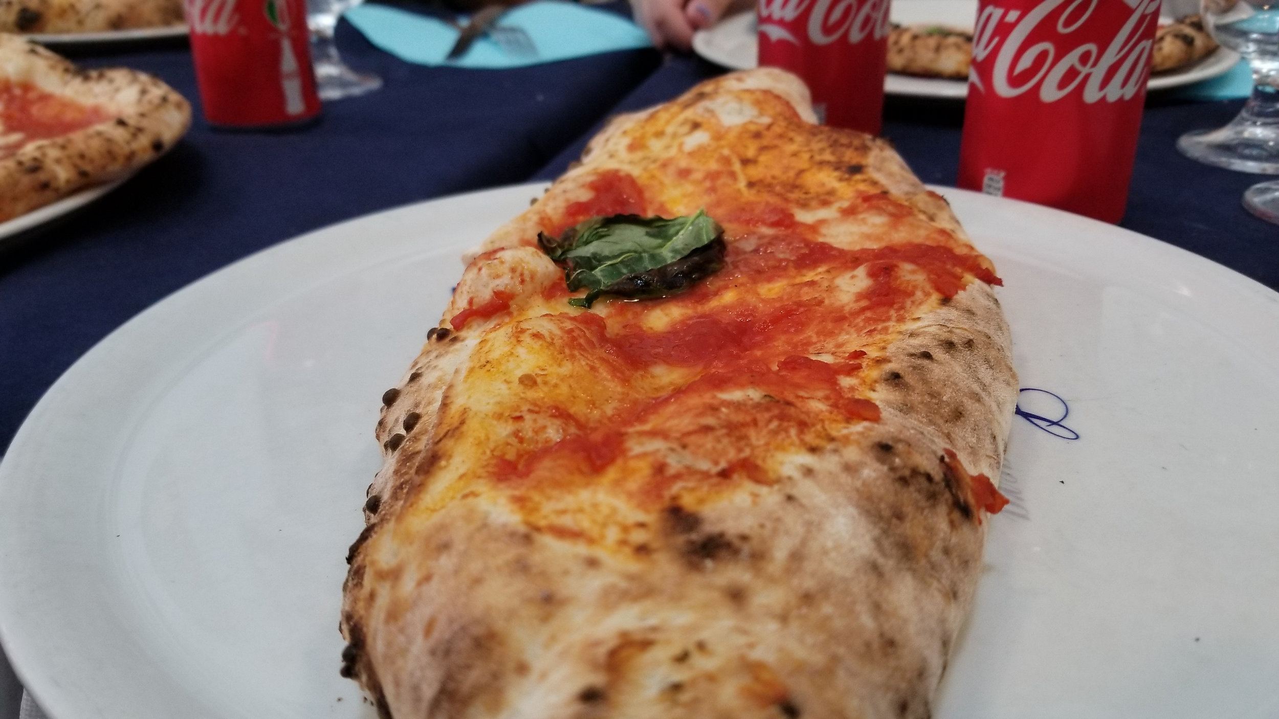 Probably the best Pizza we have ever eaten along with Coke that looks identical, but tastes way different.