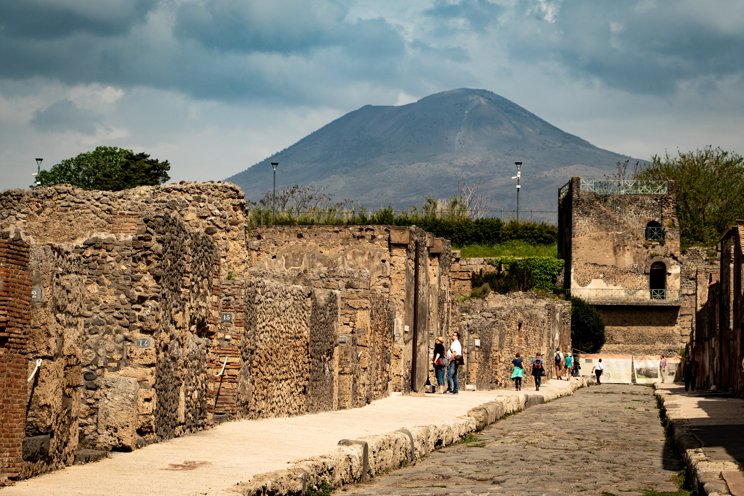 Mount Vesuvius is the volcano that destroyed Pompei in A.D 79