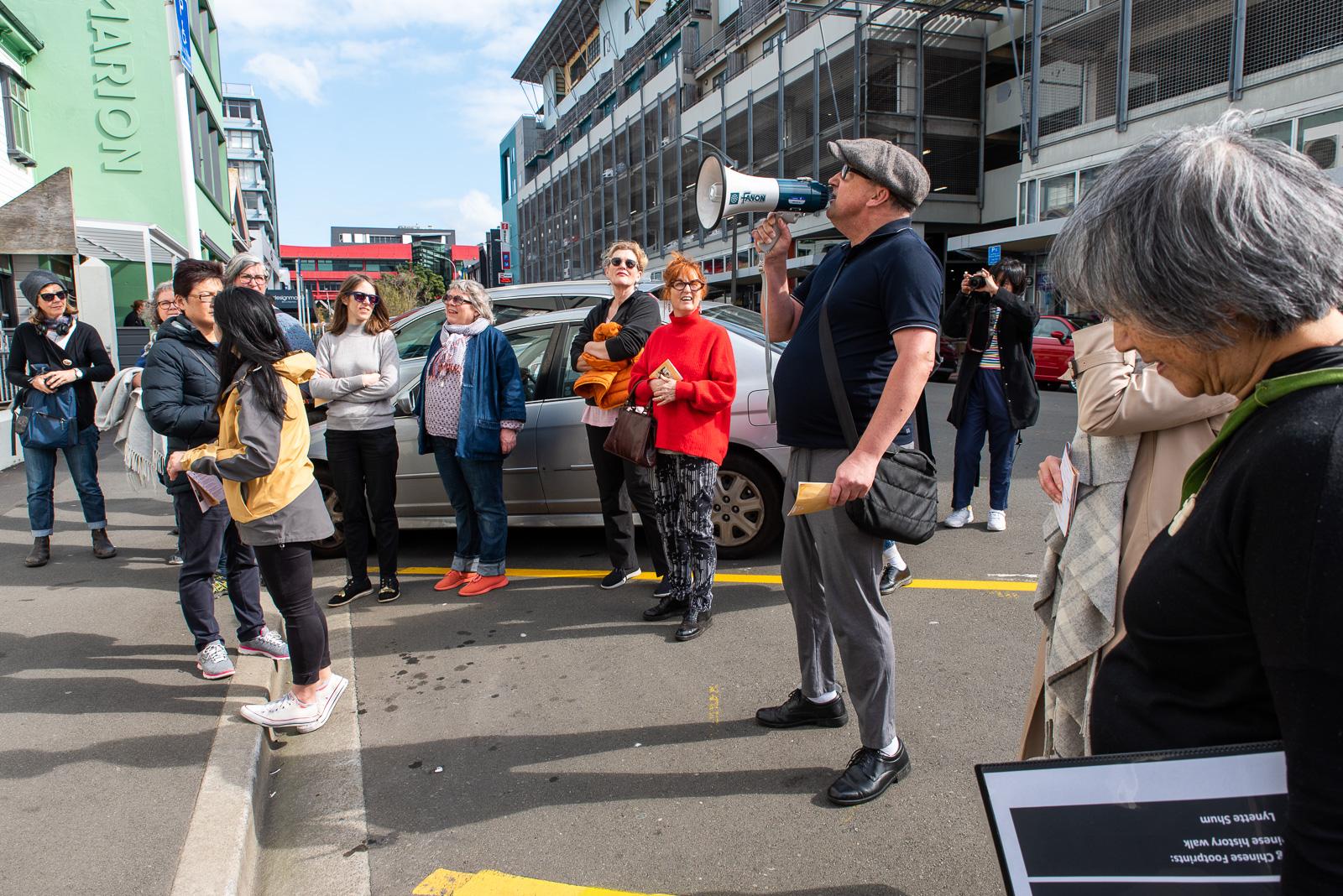 Chinese Footprints Walking tour with historians Lynette Shum & Nigel Murphy 16 September 2018. Photo by John Lake