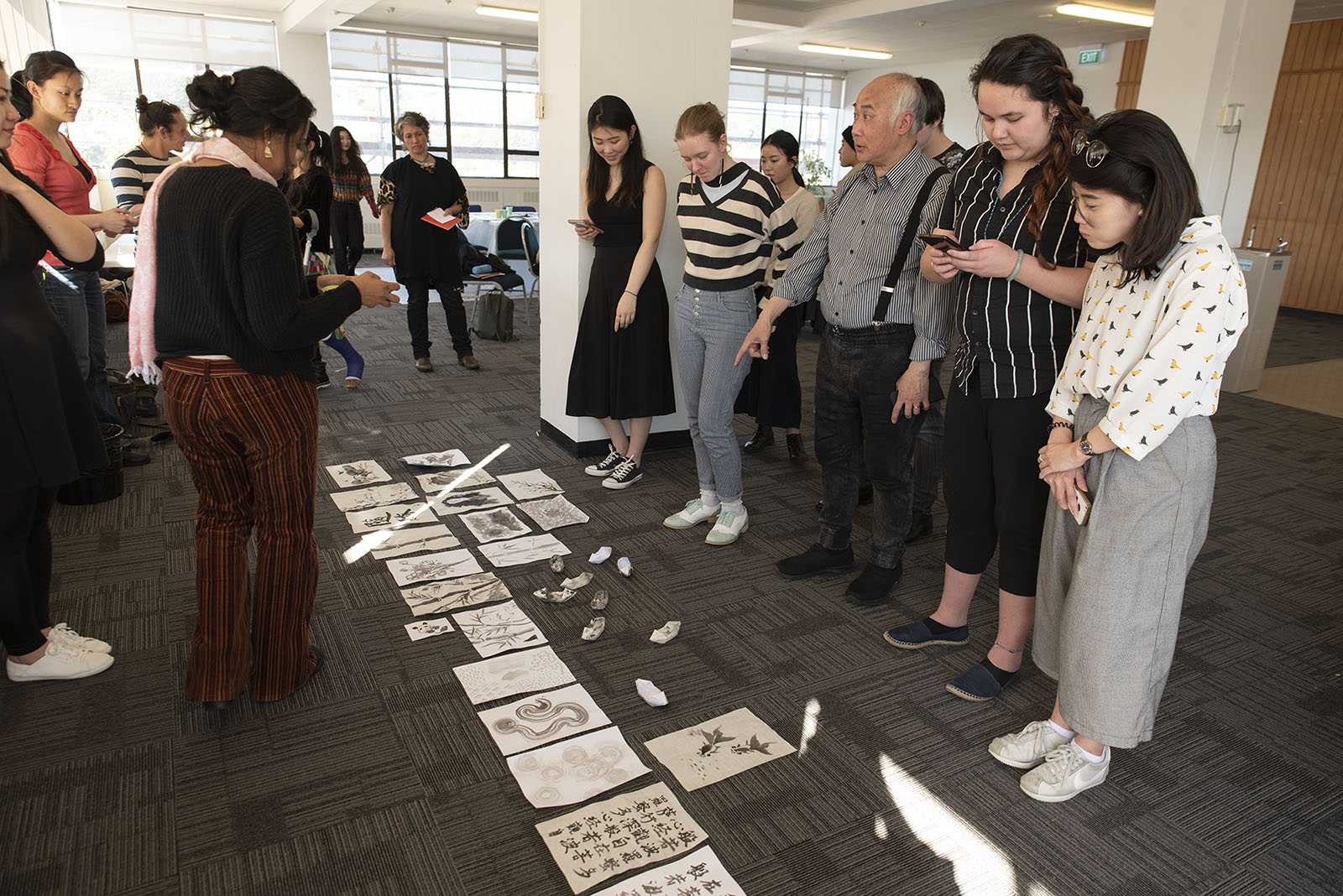 Master Class #1 Shaping Ink with Stan Chan and Yueyun Song, Massey University, 20 September 2018. Photo by John Lake