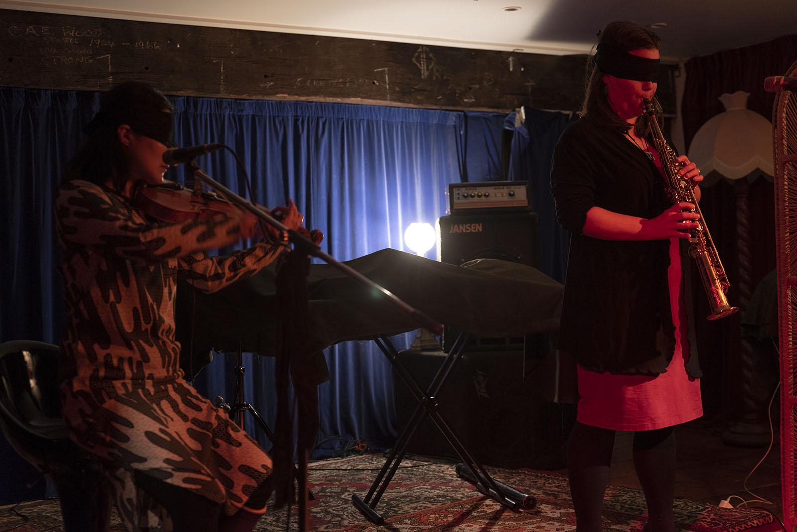 Motoko Kikkawa and Blue Oyster present BLIND JAM #3, 19 September, Pyramid Club. Photo by John Lake