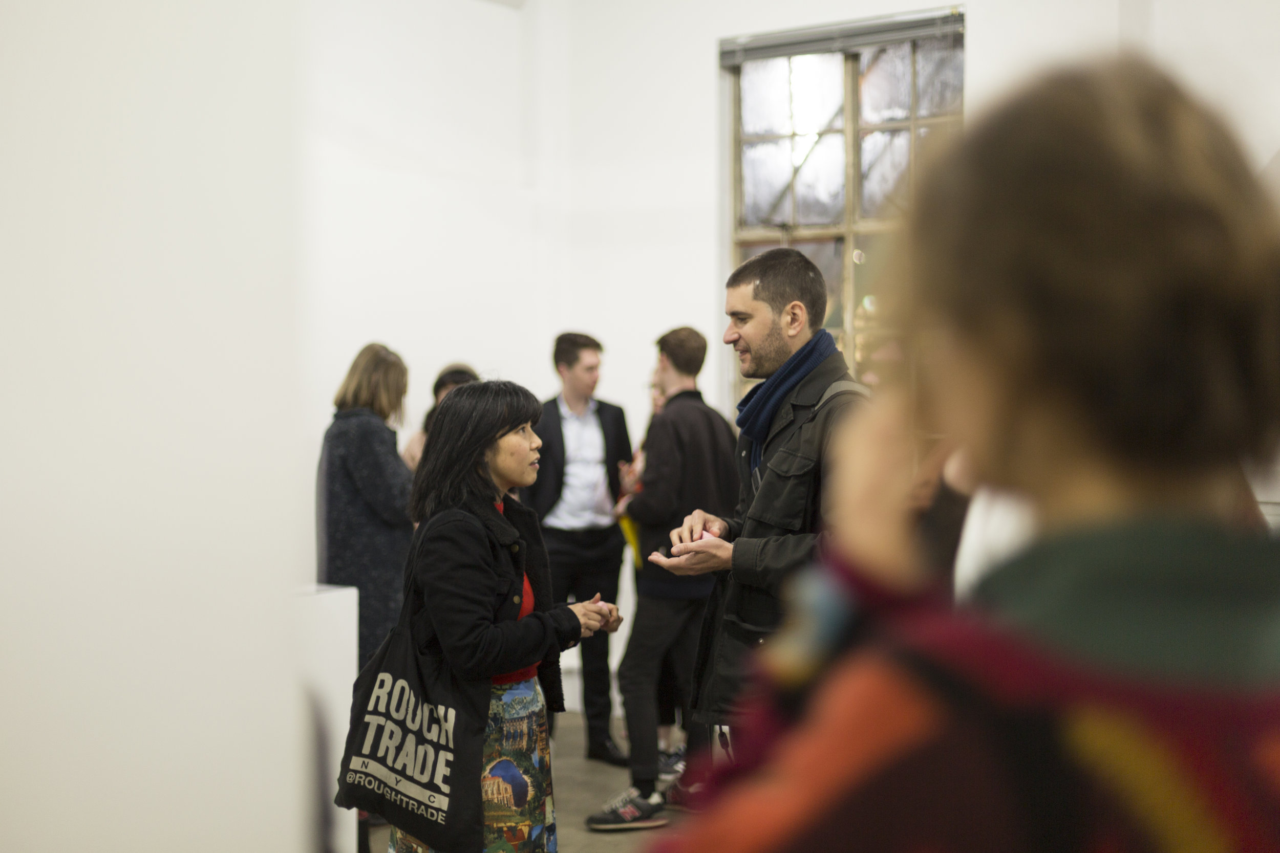 a temple, a commons, and a cave Exhibition Opening Night, MEANWHILE Gallery, 12 September 2018. Photo by Mia Vinaccia