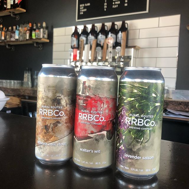 Hey everyone! We have all 3 beers available in cans at the restaurant again! Stop by and get yours for the Canada Day long weekend! 🍻🇨🇦#walterswit #lavendersaison #holsteinmilkstout