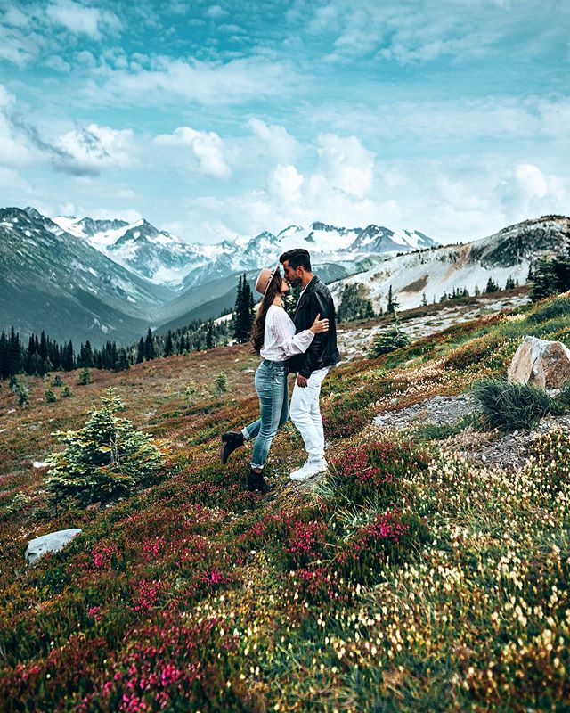 Serious Sound of Music vibes up at this mountain top. We took a gondola straight up from the @fairmontwhistlr and damn - I know I'm a beach girl but it is so pretty up here! 🏔 #fairmontwhistler #fairmontmoments #adventurehere #awaylands #onlyinwhistler #travelcouple